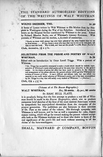 defending walt whitman summary