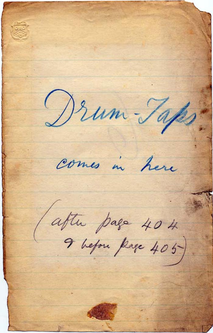 Catalog of the Walt Whitman Literary Manuscripts in the ...