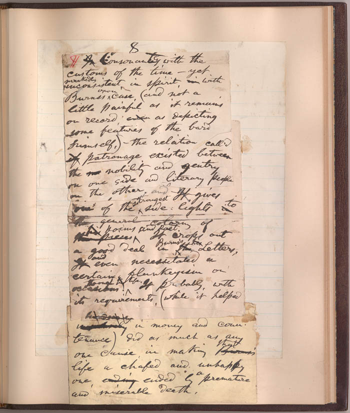 catalog of a walt whitman literary manuscript in the james