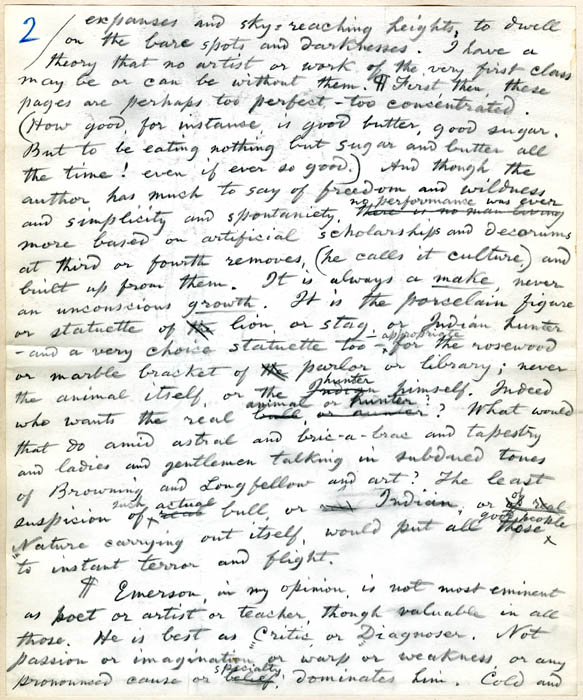 "whitmans interpretation of emerson essay Abstract: this essay argues for walt whitman's significance to contemporary   emerson wrote that ""language has lost its meaning in the universal cant."