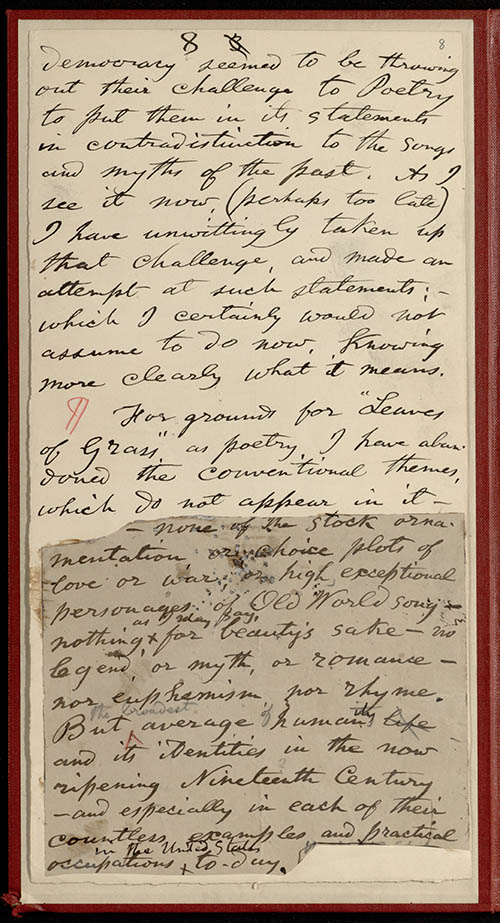 """an essay on walt whitman the american conscience of the 19th century What america's 19th-century reformers and radicals missed  william  wordsworth, jenny lind, abraham lincoln, walt whitman, black hawk,  he  took over a liberal church, published his sermons, and grew a social conscience   he asked in his now-famous essay """"resistance to civil government."""