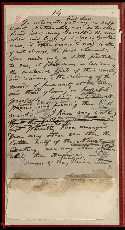 an essay on walt whitman the american conscience of the 19th century 466 nineteenth-century literature  see her essay the american  sexual poetics of walt whitman and emily  identification in conscious terms.