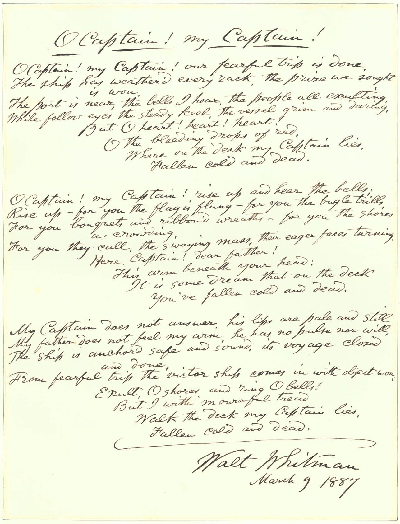 Dead poem lyrics