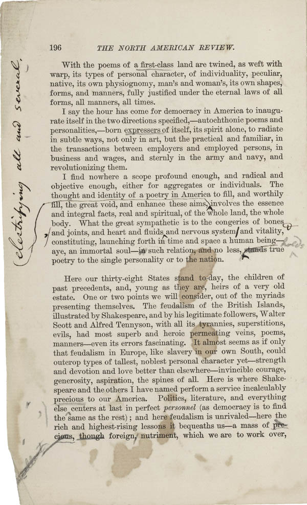 the poetry of dickinson and whitman essay 2005-6-7  view and download walt whitman essays examples also discover topics, titles, outlines, thesis statements, and conclusions for your walt whitman essay.