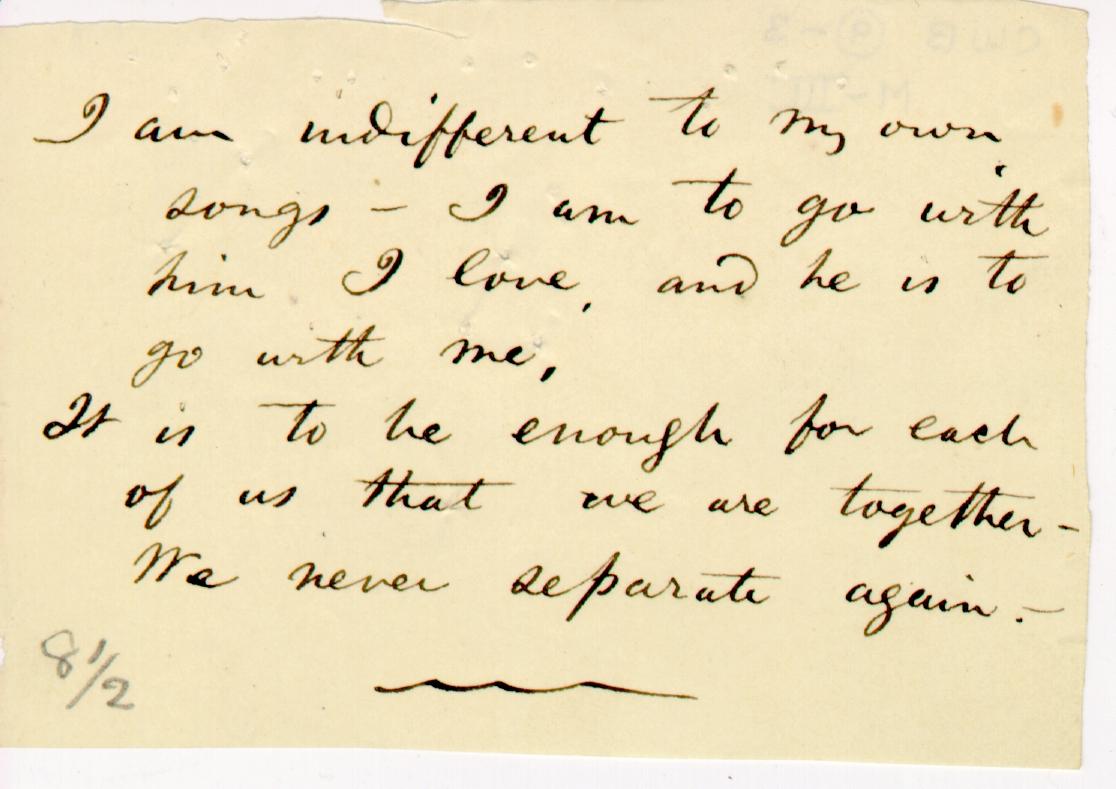 Walt Whitman Poetry Manuscripts Live Oak With Moss The Walt