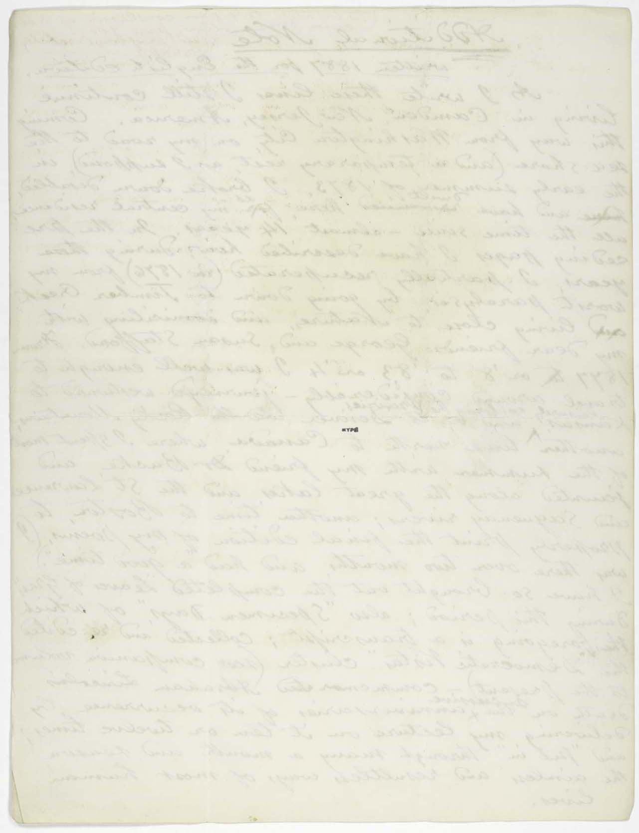 an integrated catalog of walt whitman s literary manuscripts the content a nearly complete draft of an essay whitman wrote for the english edition of specimen days this essay first appeared in 1887 as additional note