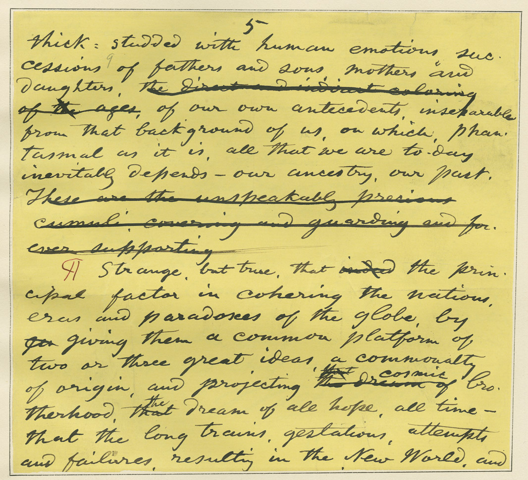 catalog of the walt whitman prose manuscripts in the special  resources