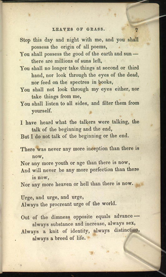 1 — Poem of Walt Whitman, an American  (Leaves of Grass