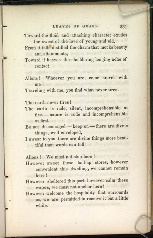12 Poem Of The Road Leaves Of Grass 1856 The Walt Whitman