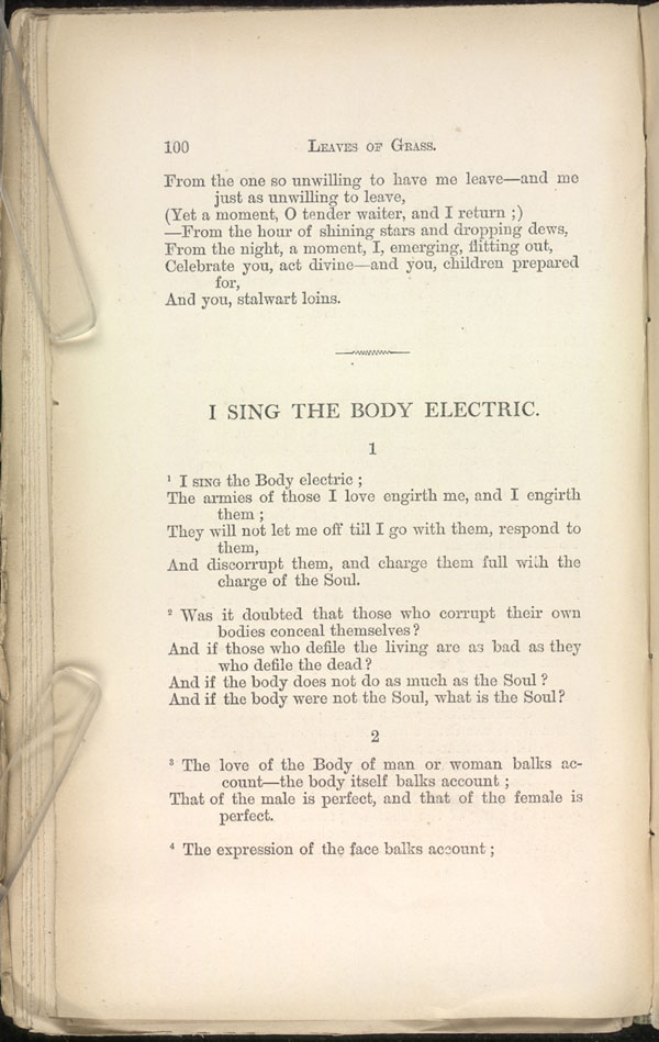 From Pent Up Aching Rivers Leaves Of Grass 1871 72 The Walt Whitman Archive