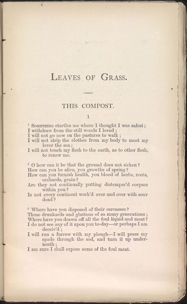 THIS COMPOST. ( Leaves of Grass (1871–72)) - The Walt