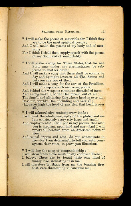 STARTING FROM PAUMANOK  ( Leaves of Grass (1867)) - The Walt