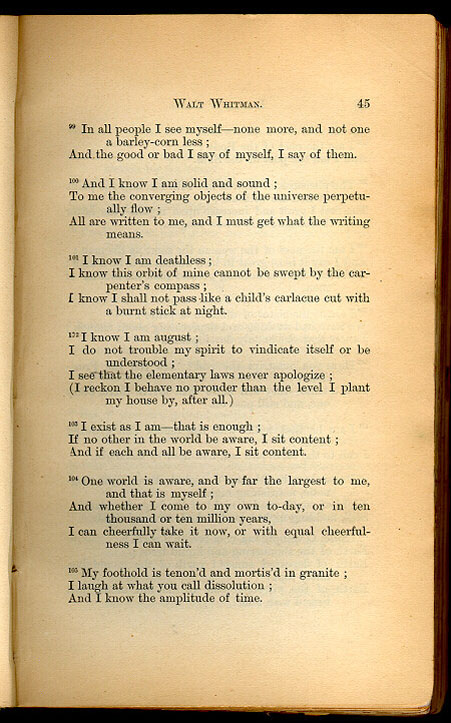 Walt Whitman Leaves Of Grass 1867 The Walt Whitman Archive