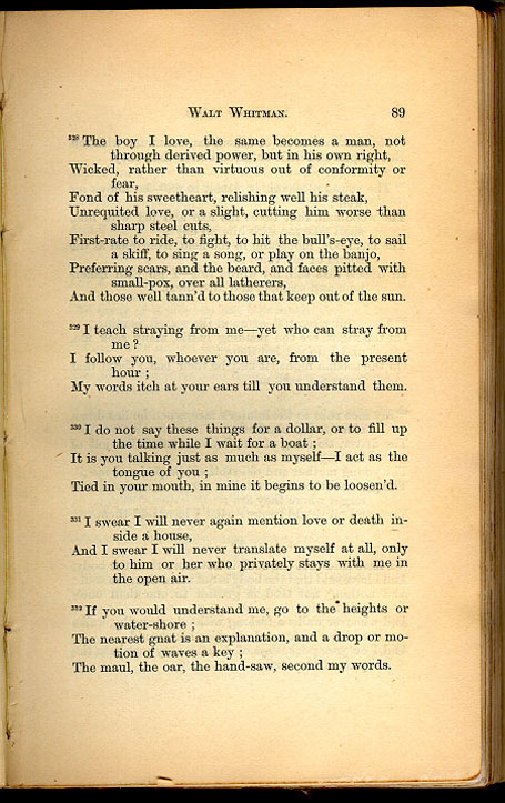 WALT WHITMAN. ( Leaves of Grass (1867)) - The Walt Whitman ...
