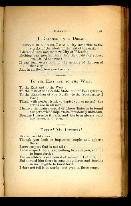 walt whitmans life in words essay Walt whitman walt whitman was born on may 31, 1819, in west hills, long island, new york he was the second of six children from 1825-1830, he attended public school in brooklyn.