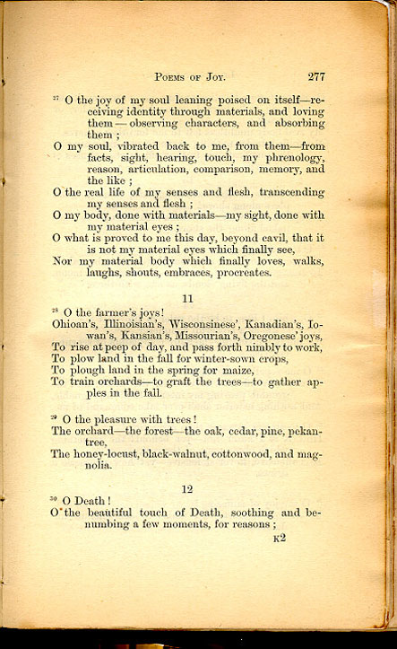 POEMS OF JOY  ( Leaves of Grass (1867)) - The Walt Whitman Archive
