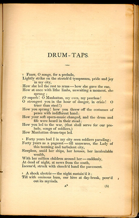 DRUM-TAPS. ( Leaves of Grass (1867)) - The Walt Whitman Archive