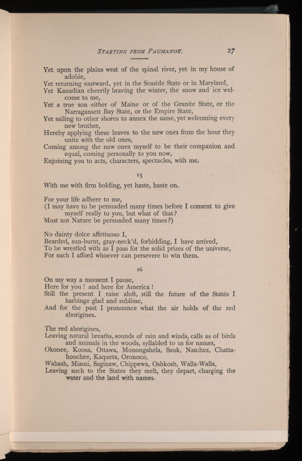starting from paumanok leaves of grass the walt starting from paumanok leaves of grass 1891 92 the walt whitman archive
