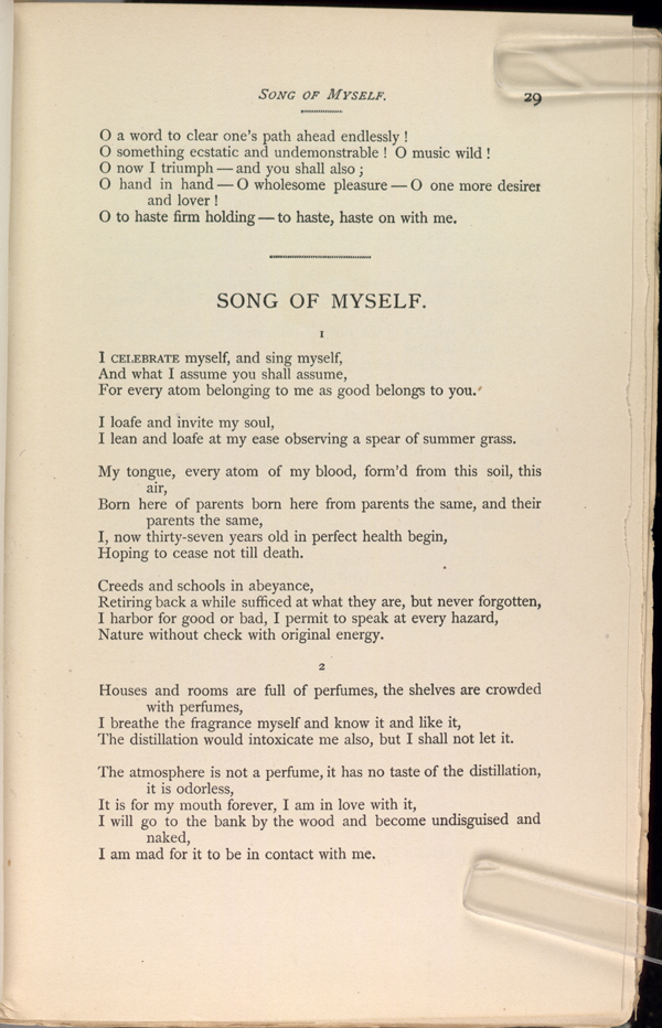 song of myself leaves of grass the walt whitman  books by whitman