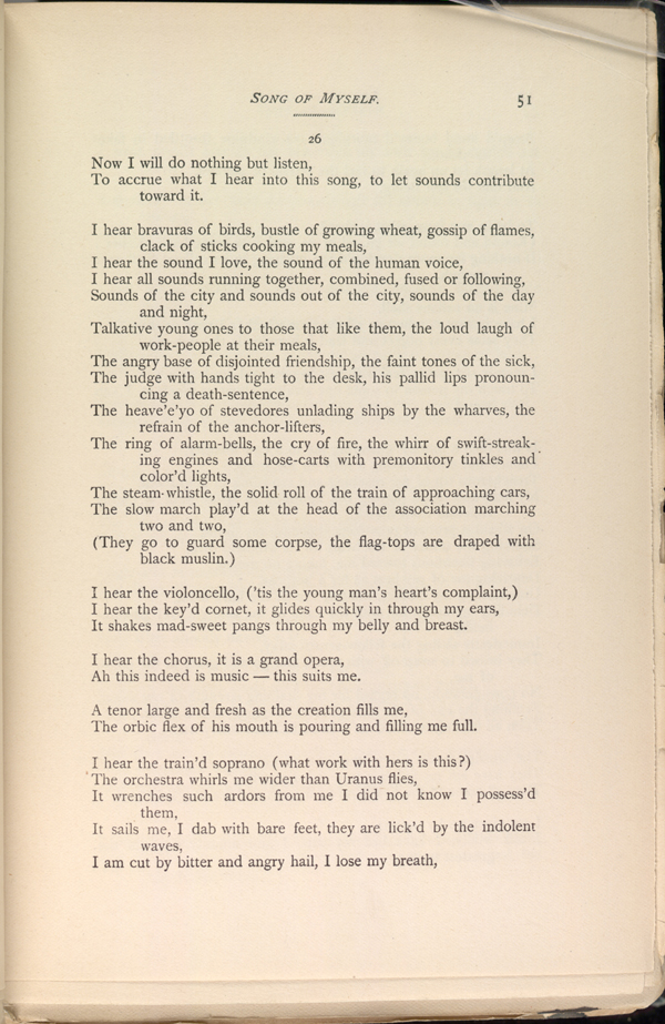 SONG OF MYSELF  ( Leaves of Grass (1891–1892)) - The Walt Whitman