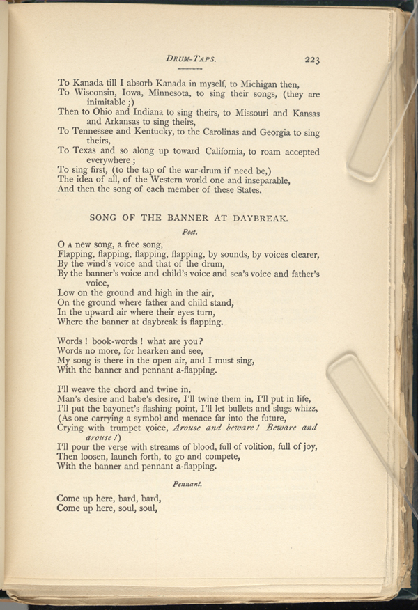 Drum Taps Leaves Of Grass 1891 92 The Walt Whitman Archive
