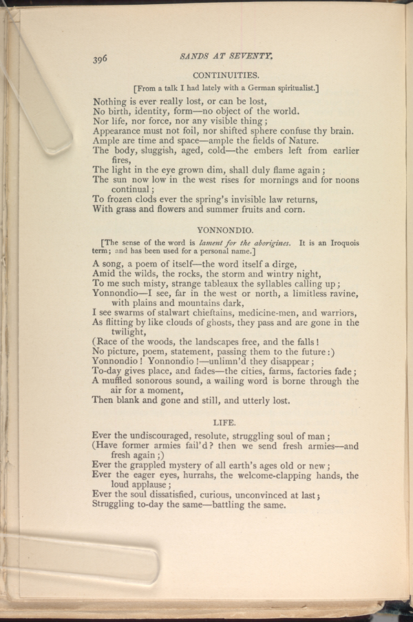 essay on the poem lament