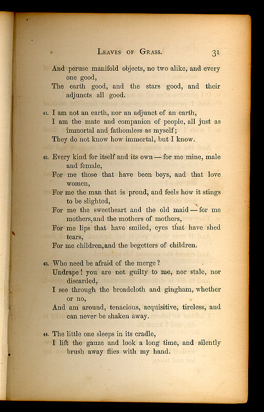 Walt Whitman Leaves Of Grass 186061 The Walt Whitman Archive