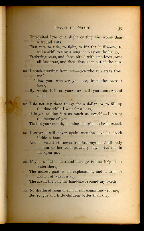 WALT WHITMAN. ( Leaves of Grass (1860–1861)) - The Walt ...
