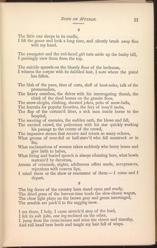 SONG OF MYSELF. (Leaves of Grass (1881-82)) - The Walt Whitman Archive