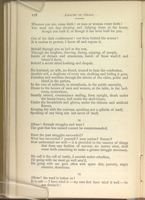 SONG OF THE OPEN ROAD  (Leaves of Grass (1881–1882)) - The