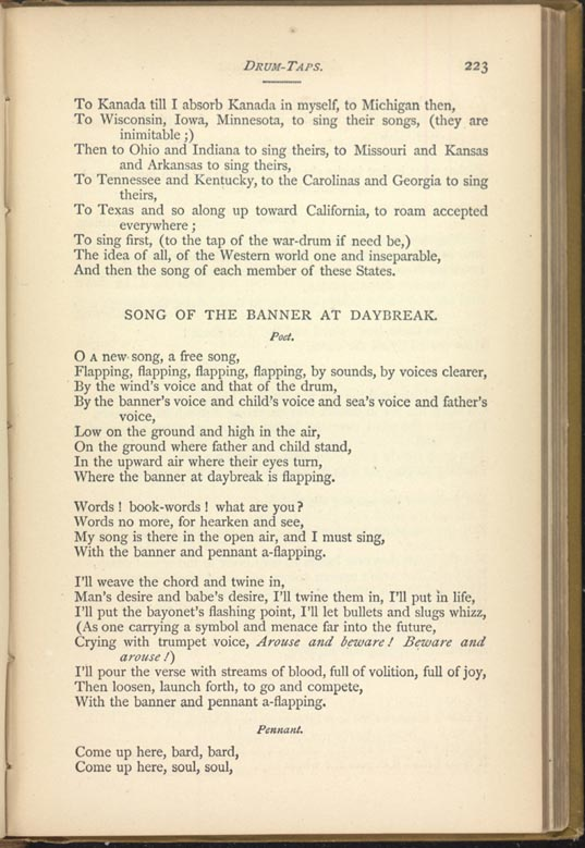 Drum Taps Leaves Of Grass 1881 82 The Walt Whitman Archive