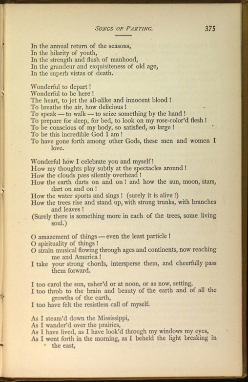 Song At Sunset Leaves Of Grass 1881 82 The Walt Whitman Archive