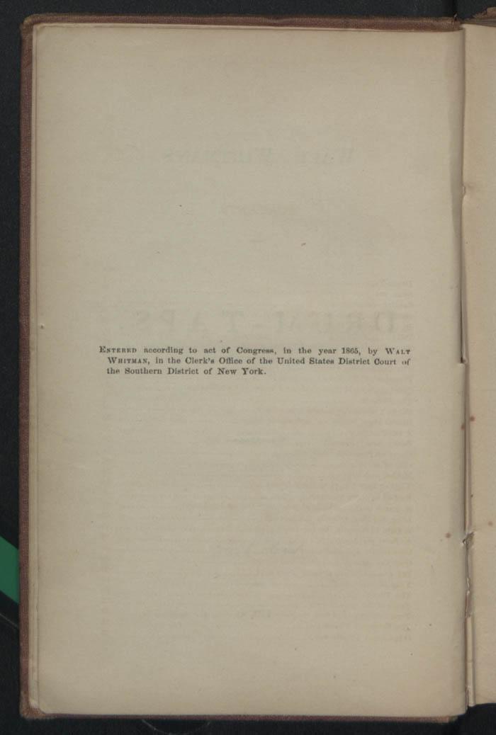 Walt Whitman Archive - Drum-Taps (1865) - The Walt Whitman Archive